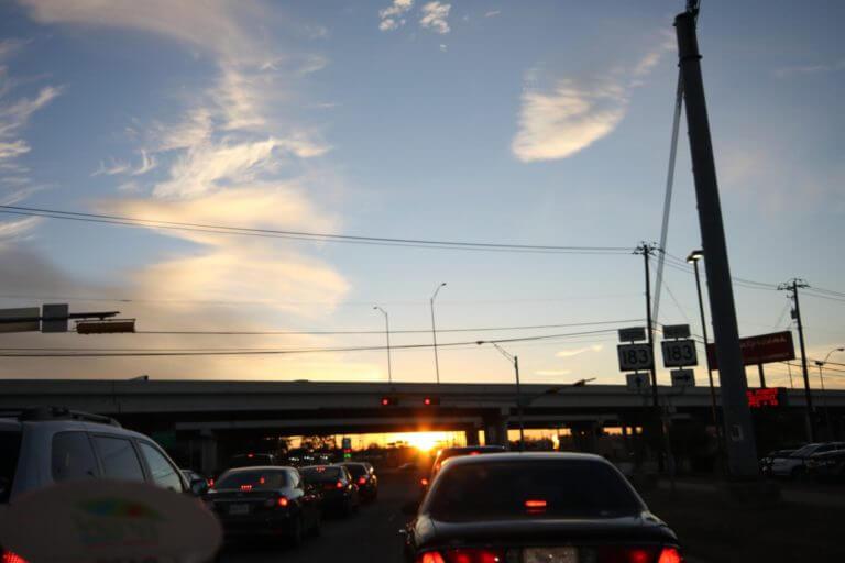 テキサスの夕陽