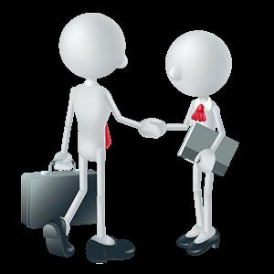 握手をする労働安全コンサルタントと経営者